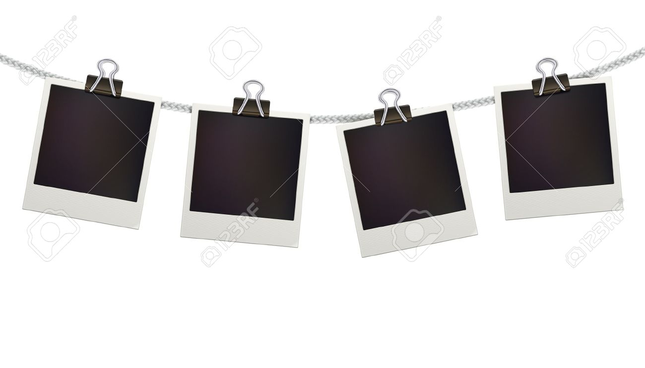 Exceptionnel Vector Illustration Of Four Blank Retro Polaroid Photo Frames  IL93
