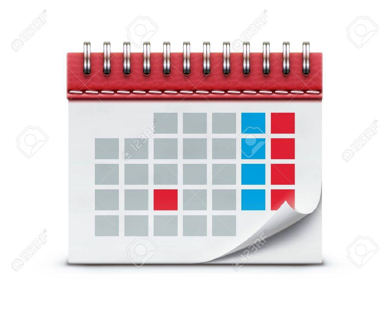 illustration of detailed beautiful calendar icon isolated on white background. Stock Vector - 17742678