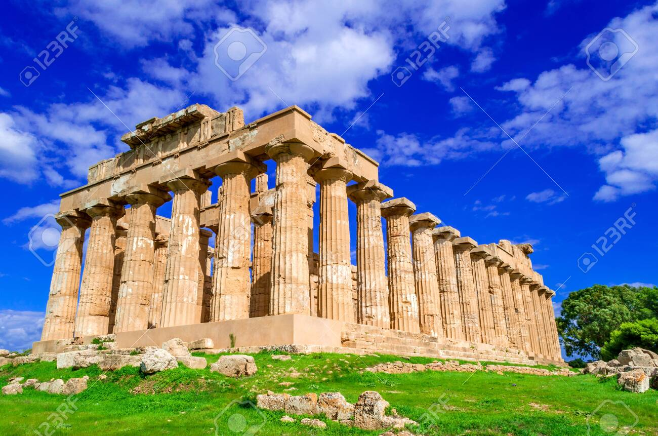 Selinunte ruins of greek temple in Sicily, Italy, Ancient Greece. - 133739958