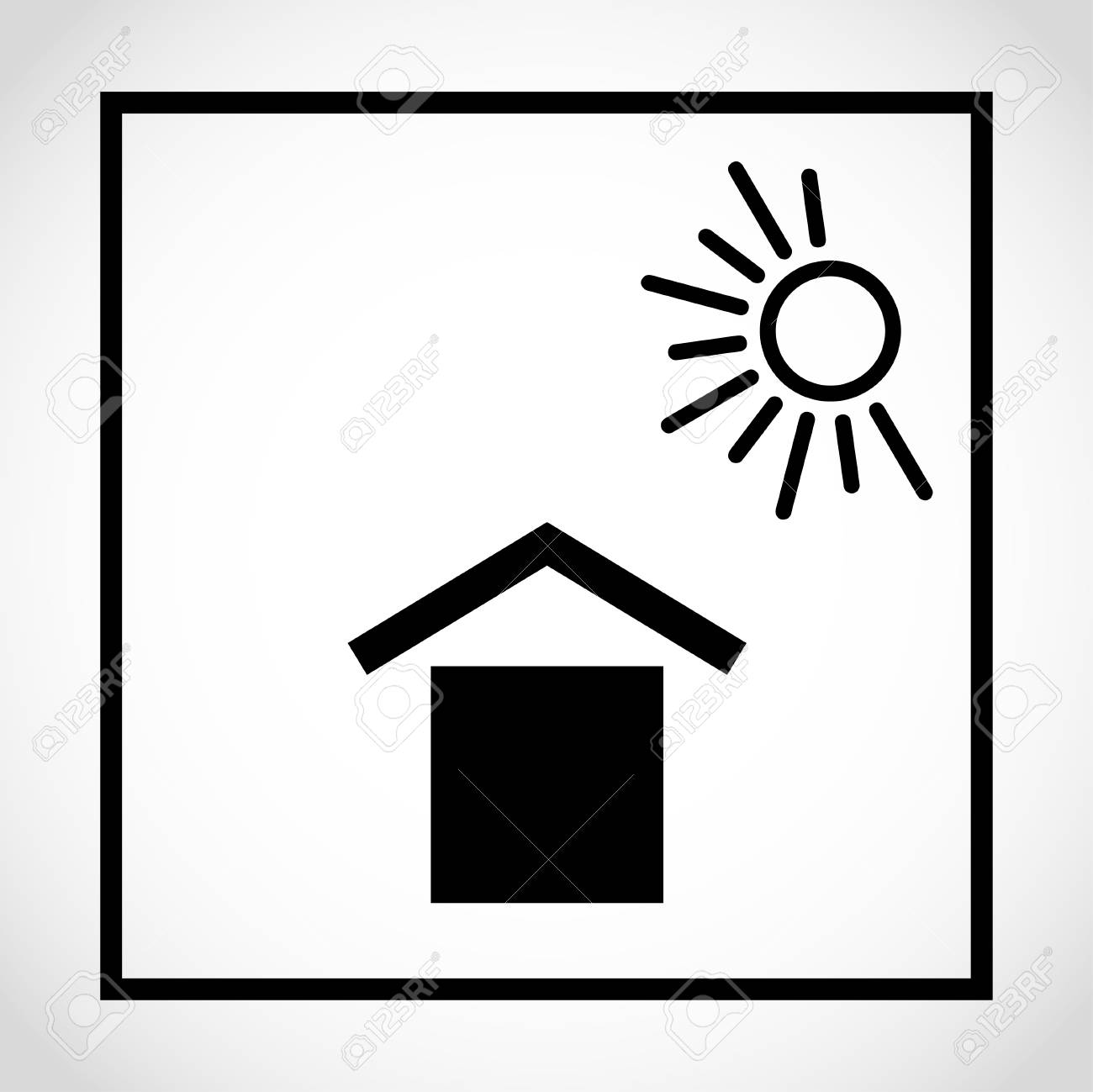 Keep Away From Sunlight Packaging Pictorial Marking For Handling