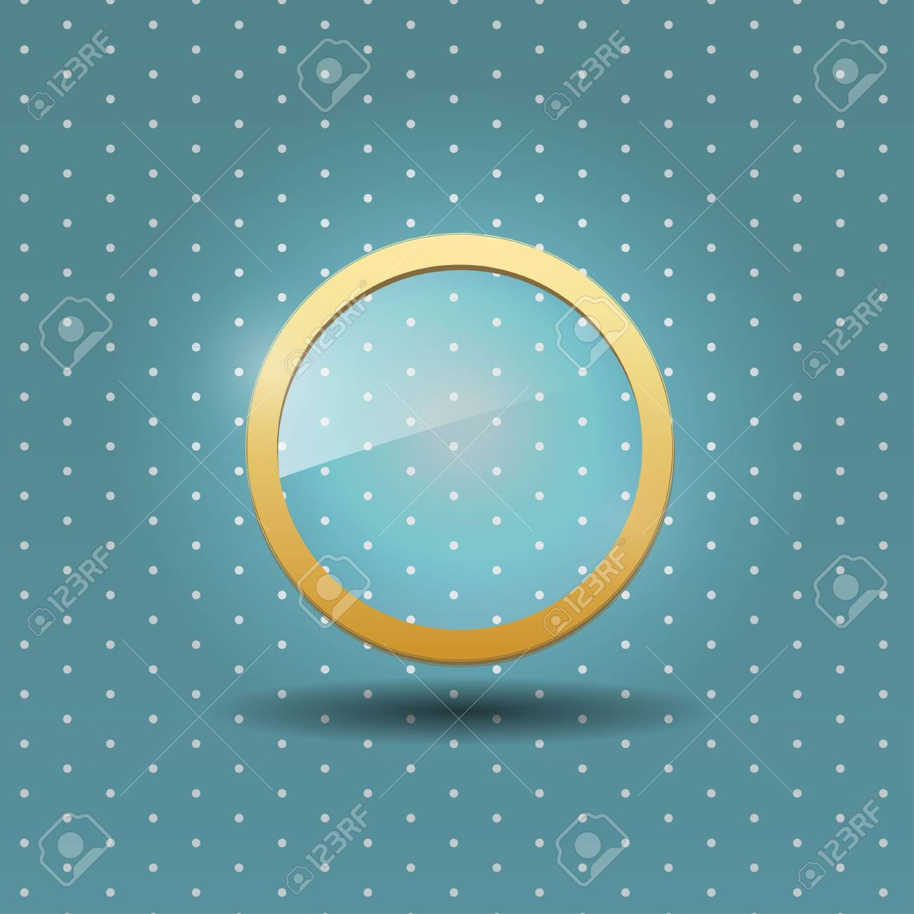 UI glass icon Stock Vector - 20571500