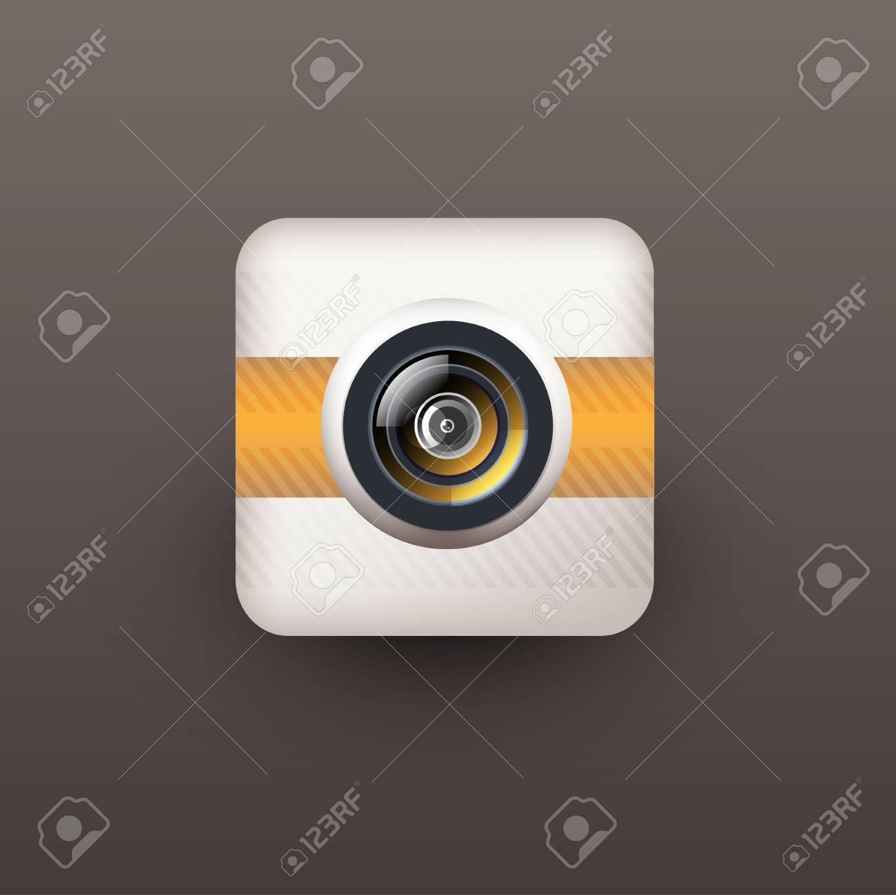 User interface camera lens icon Stock Vector - 21310949