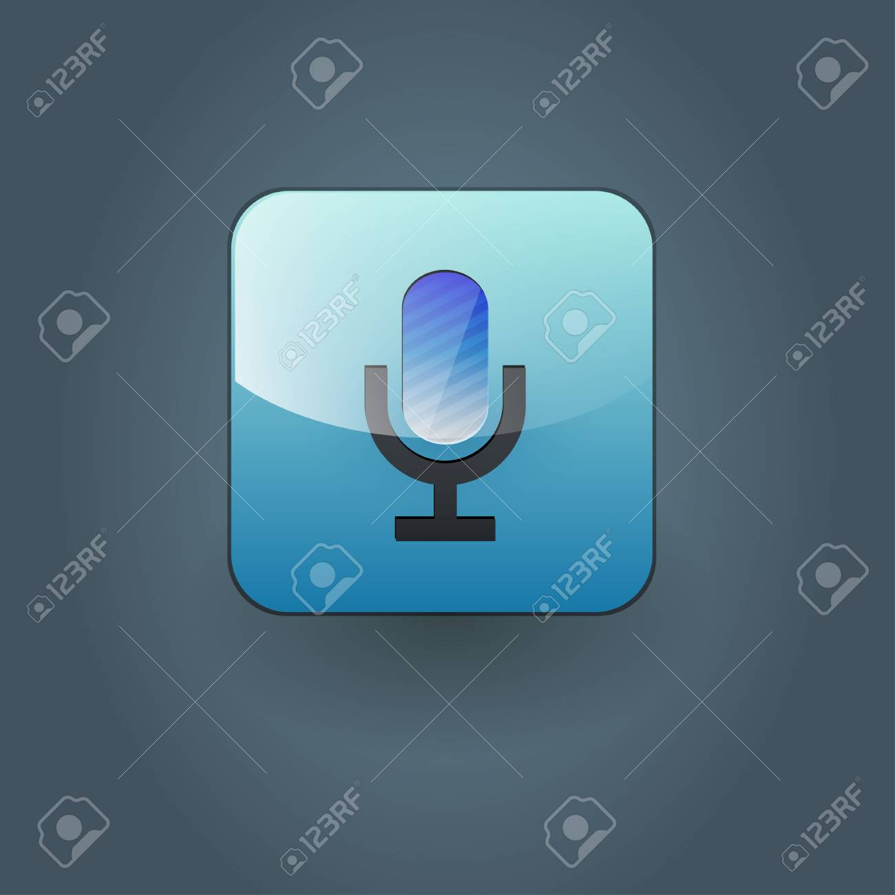 Microphone icon Stock Vector - 21310985
