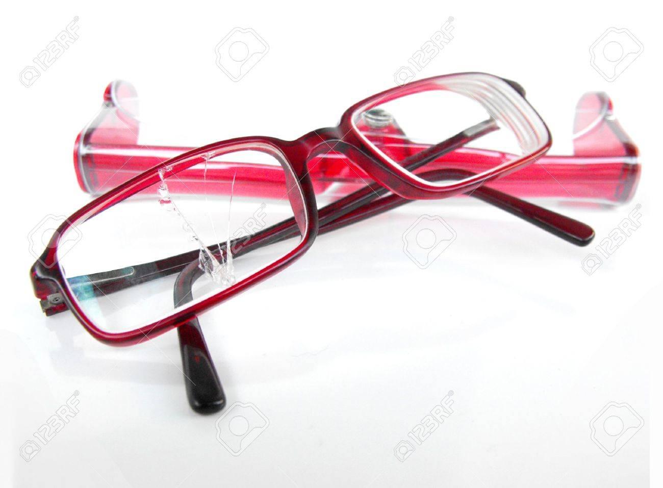 Designer Brillen Mit Gebrochenen Rechten Objektiv, Ruht Auf ...