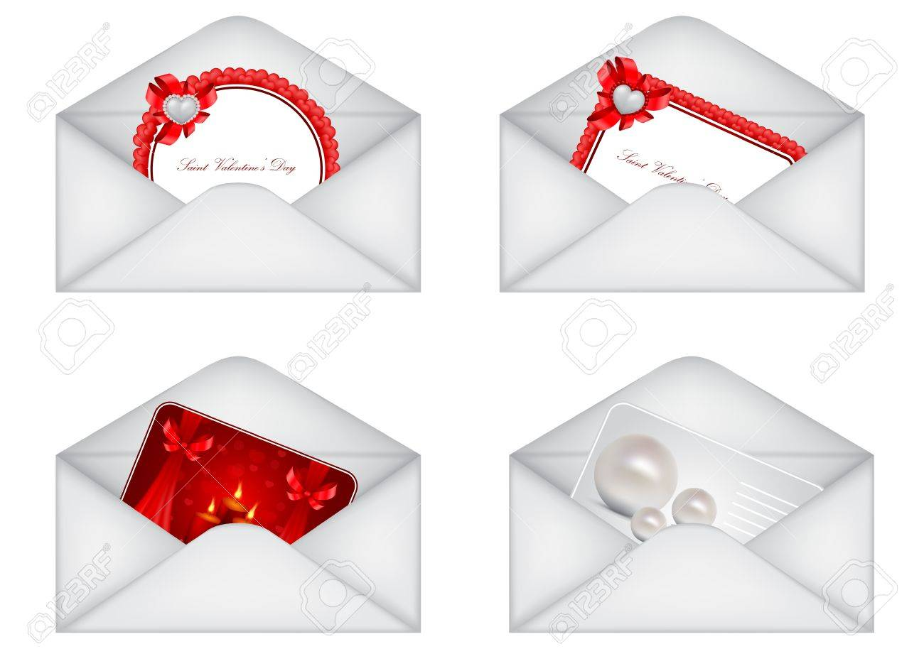 vector Saint Valentine's Day greeting card Stock Vector - 11888757