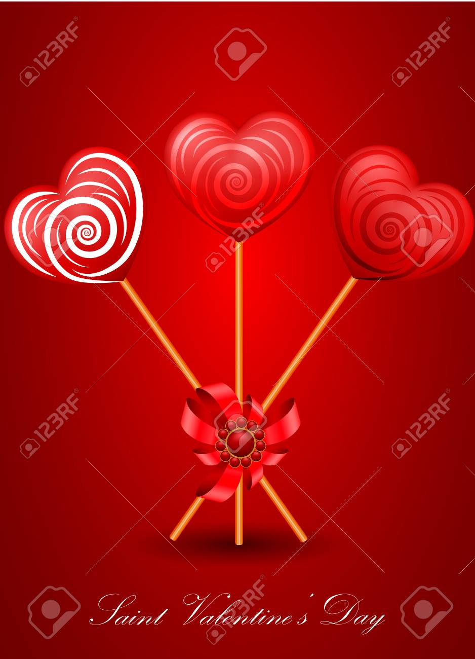 vector Saint Valentine's Day greeting card Stock Vector - 11888758