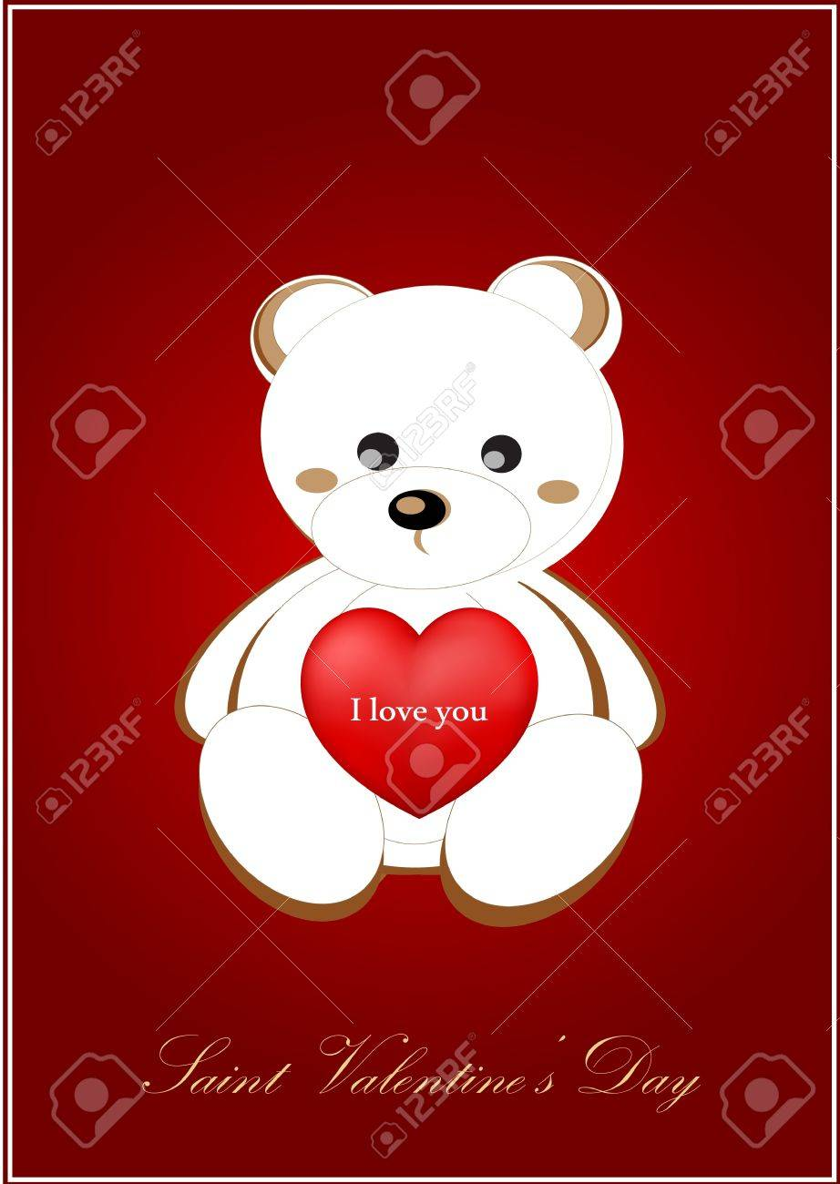 vector valentine greeting card Stock Vector - 17666156
