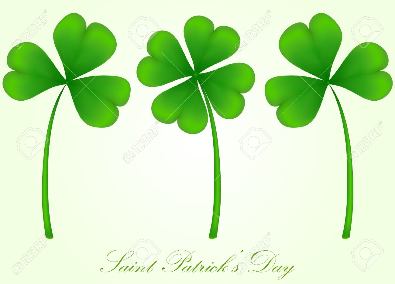 vector set of three and four leaf clover Stock Vector - 17666157