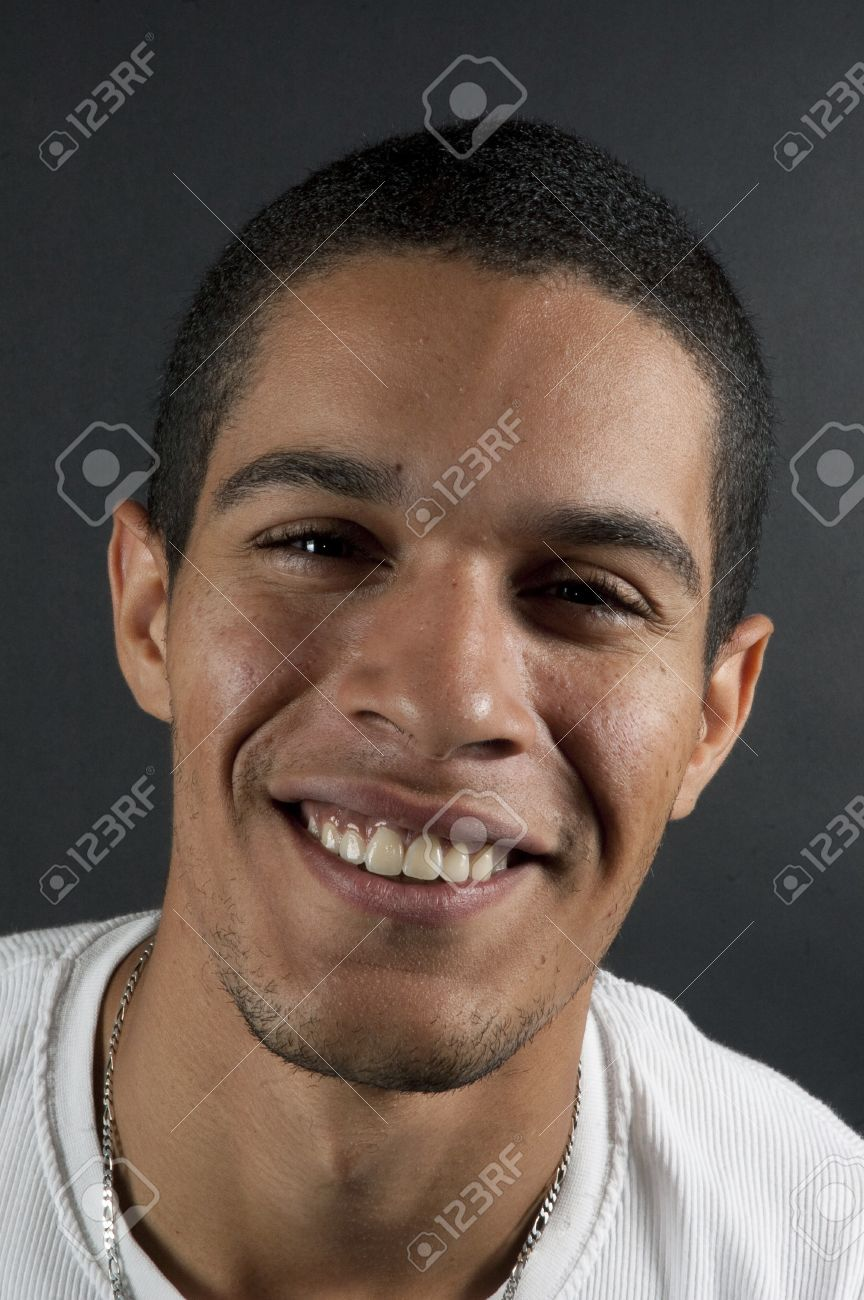 portrait of native american man on black Stock Photo - 8139899