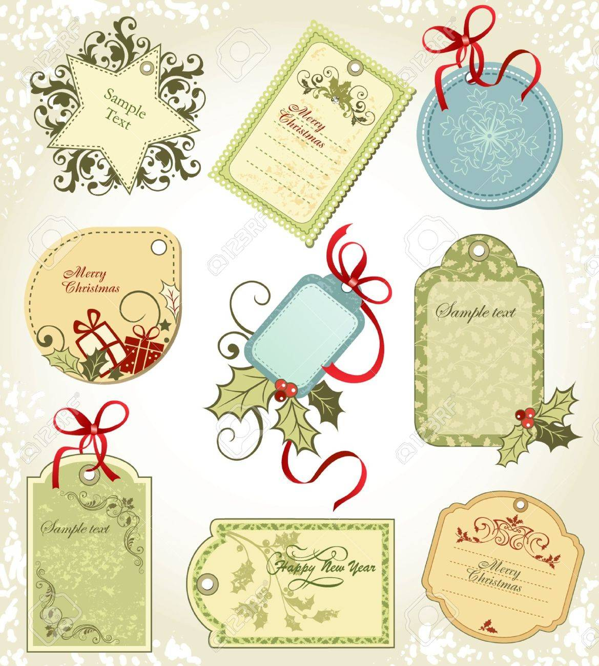 set  Christmas labels Stock Vector - 15122347
