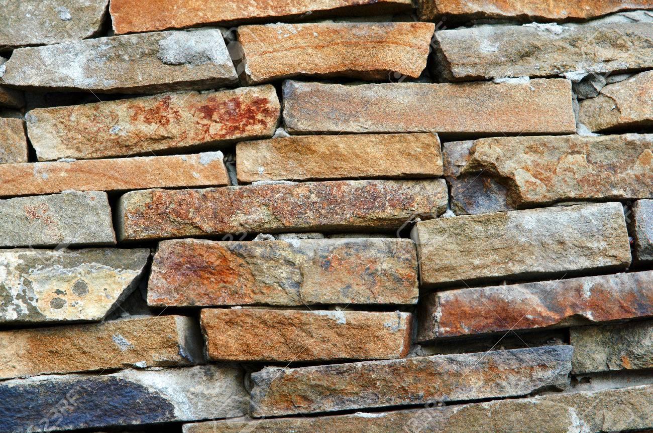 Background Of Bricks Stones Brick Wall Stone Masonry Decorative - Aged brick veneer