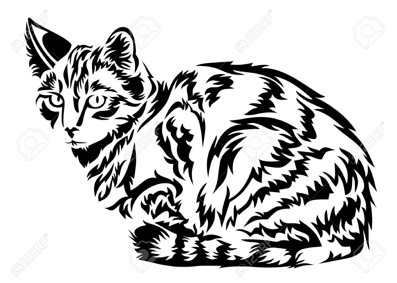 cat in vector royalty free cliparts vectors and stock illustration rh 123rf com victory cat cat vector logo