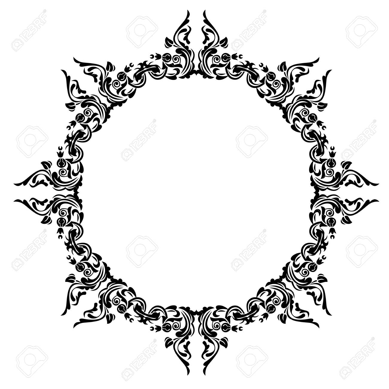 Antique Oval Frame Royalty Free Cliparts, Vectors, And Stock ...