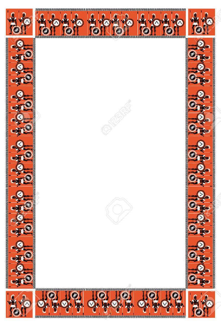 Frame with ancient greek warriors royalty free cliparts vectors frame with ancient greek warriors stock vector 37262982 jeuxipadfo Gallery