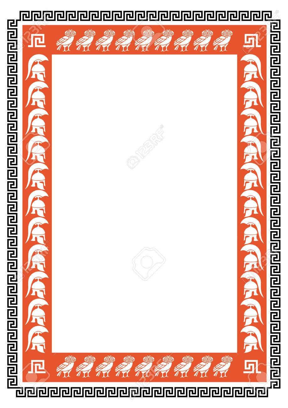 Frame with ancient greek warriors and owls royalty free cliparts frame with ancient greek warriors and owls stock vector 37262990 jeuxipadfo Gallery