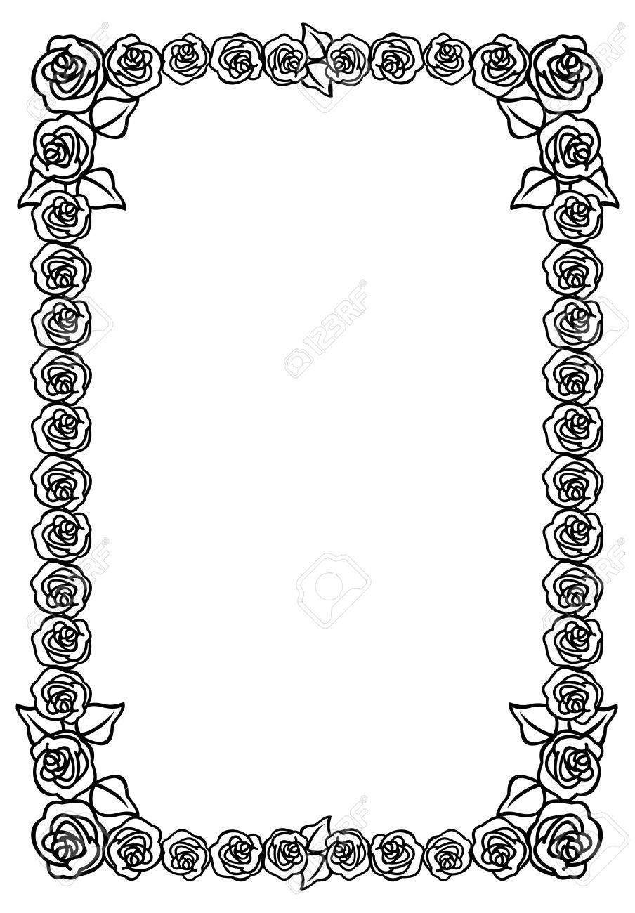 Schwarz Weiss Bild Rahmen