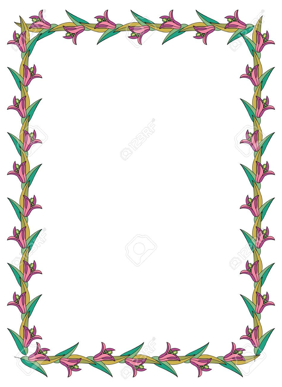 Beautiful Frame With Lilies Royalty Free Cliparts, Vectors, And ...