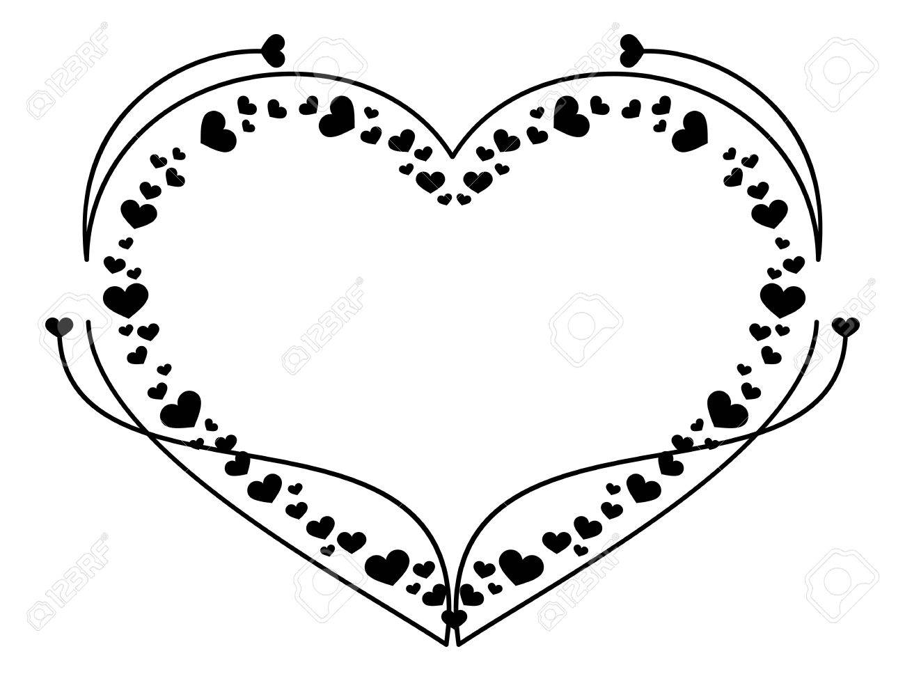 Heart Shaped Frame Royalty Free Cliparts, Vectors, And Stock ...