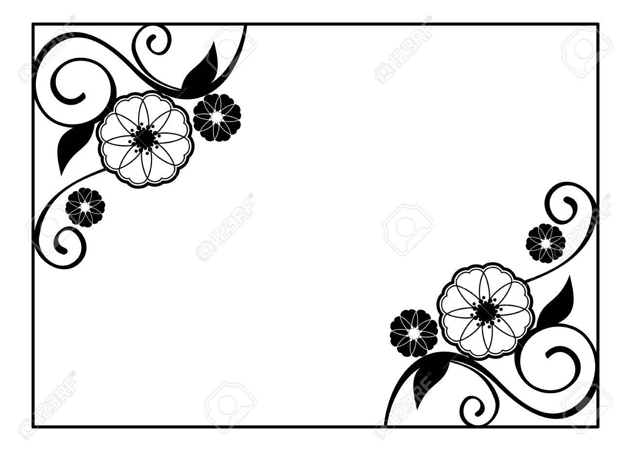 Vector frame wedding free clipart vector labs flower frame decorative black and white frame with floral elements rh 123rf com vintage wedding frame vector free junglespirit Images