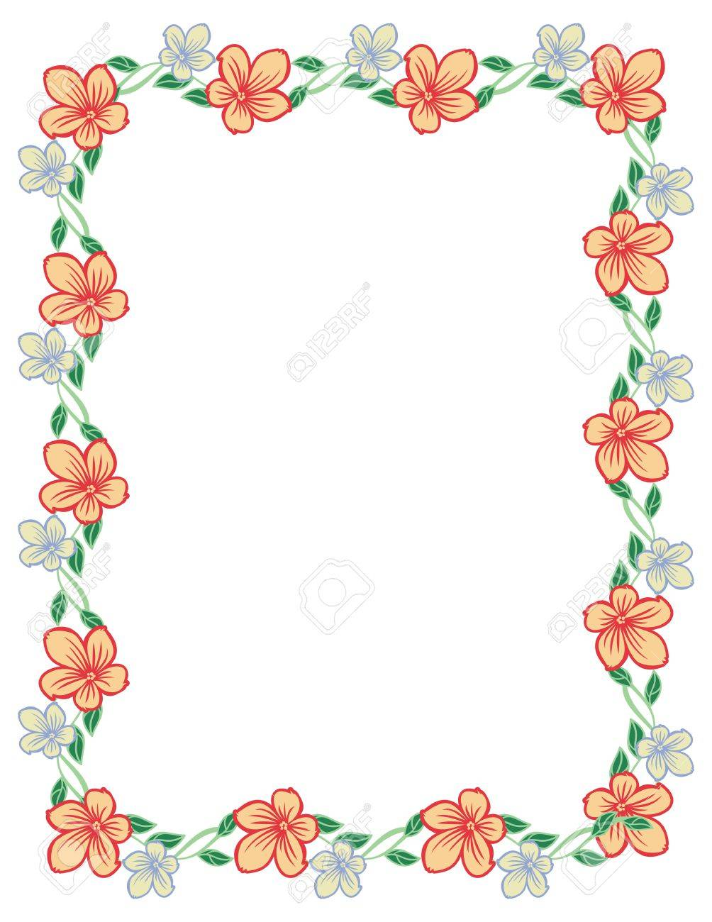Color vertical frame with abstract flowers vector clip art royalty color vertical frame with abstract flowers vector clip art stock vector 60092717 voltagebd Image collections