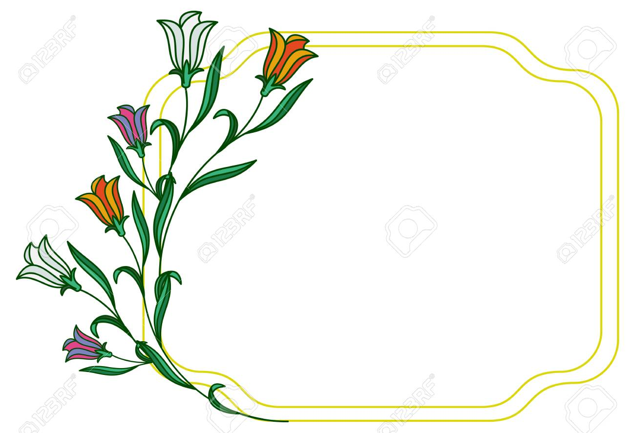 color frame with abstract flowers vector clip art royalty free rh 123rf com free clip art flowers color