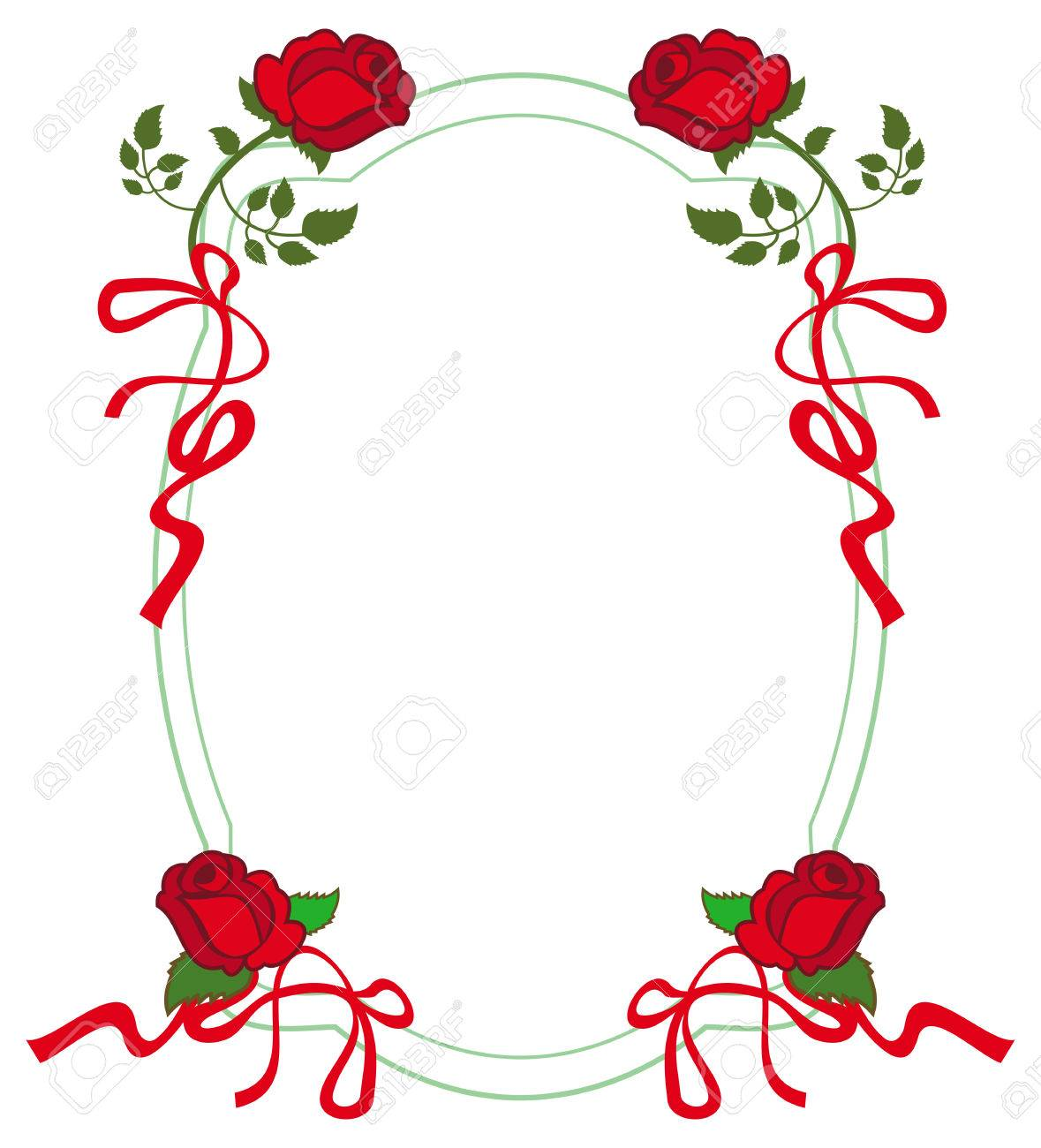 round frame with red roses vector clip art royalty free cliparts rh 123rf com rose vector logo rose vectoriel gratuit