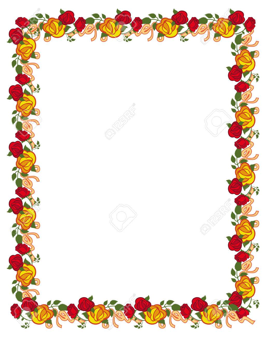 Vertical frame with red and yellow roses vector clip art royalty vertical frame with red and yellow roses vector clip art stock vector 60475664 jeuxipadfo Gallery