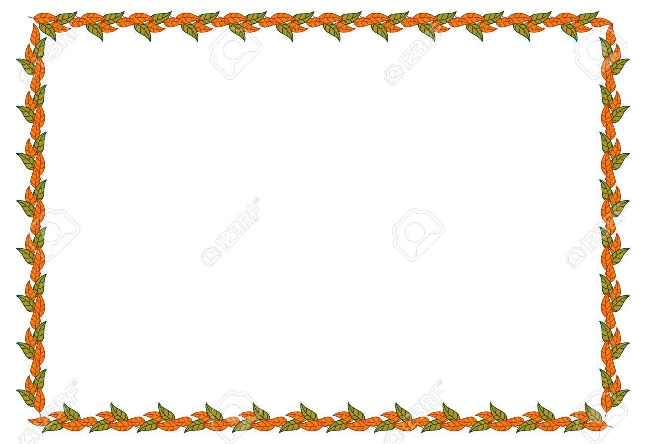 Horizontal, Farbe, Dekorativ, Blätter, Vektor, \'clip Art\', Kunst ...