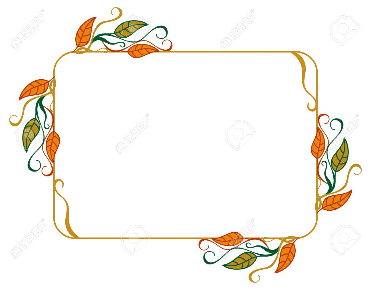 horizontal, color, decorative, leaves, vector, 'clip art', art