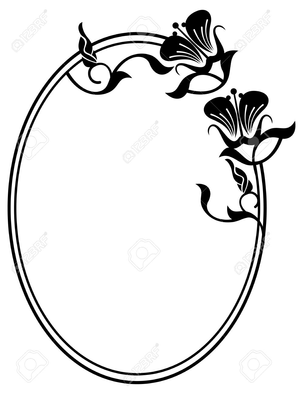 beautiful silhouette frame simple black and white oval frame rh 123rf com beautiful clip art images beautiful clipart graphics