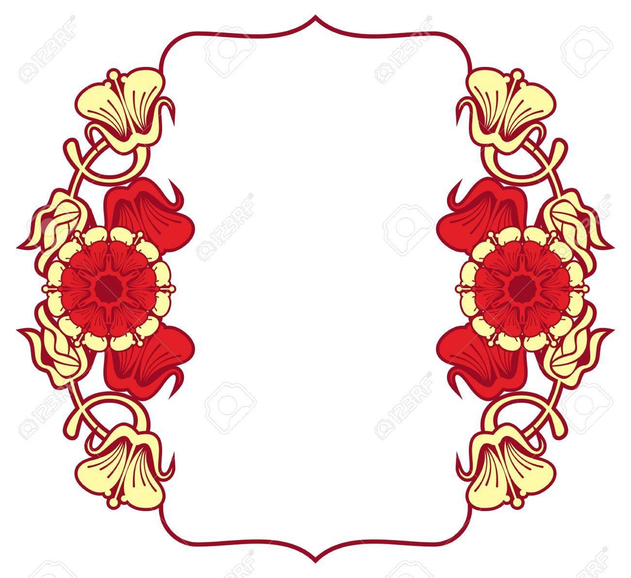 Red Wedding Invitation Clip Art Designs - Clipart Vector Design •