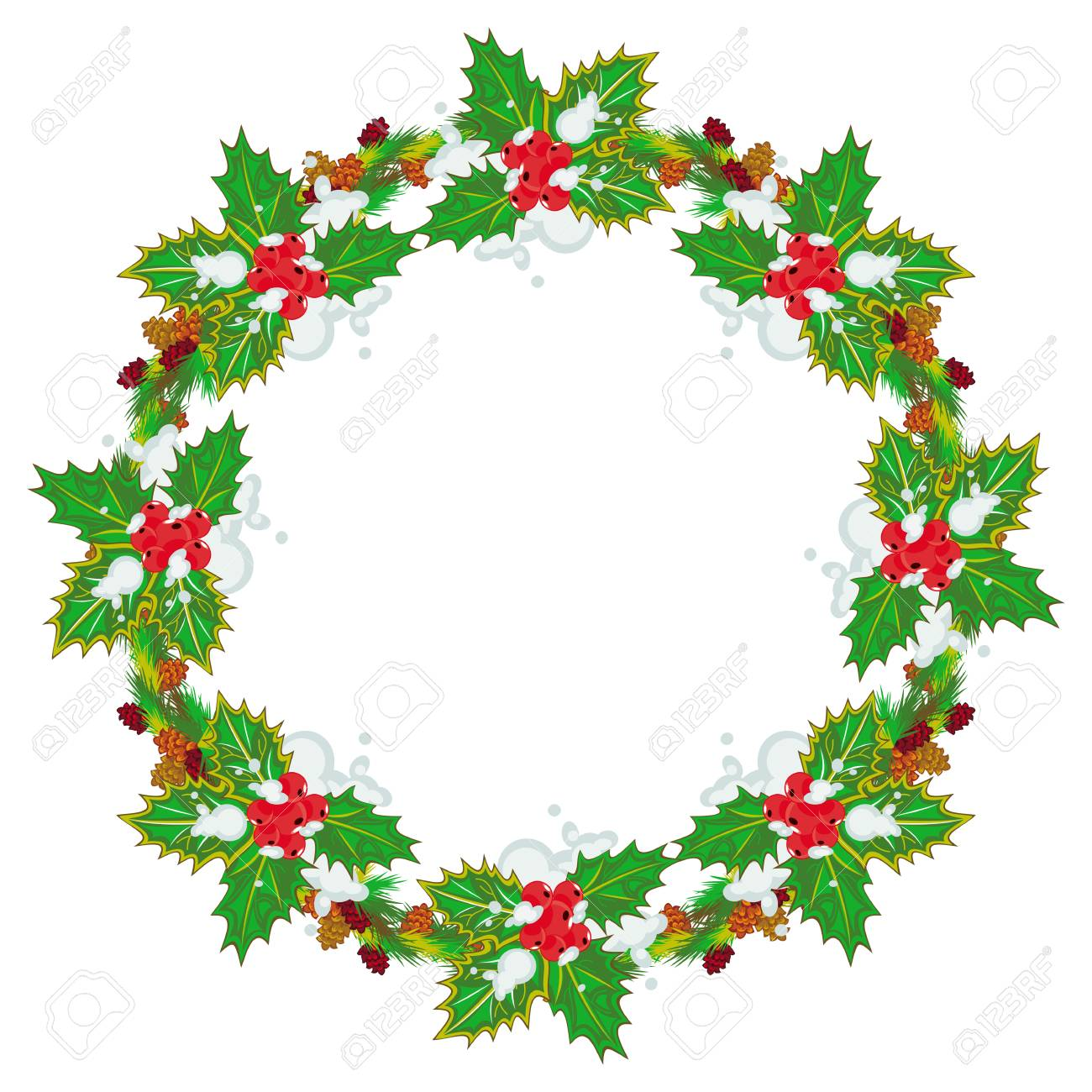 Wreath Christmas New Year Clip art - Pine cone border png download -  780*583 - Free Transparent Wreath png Download. - Clip Art Library