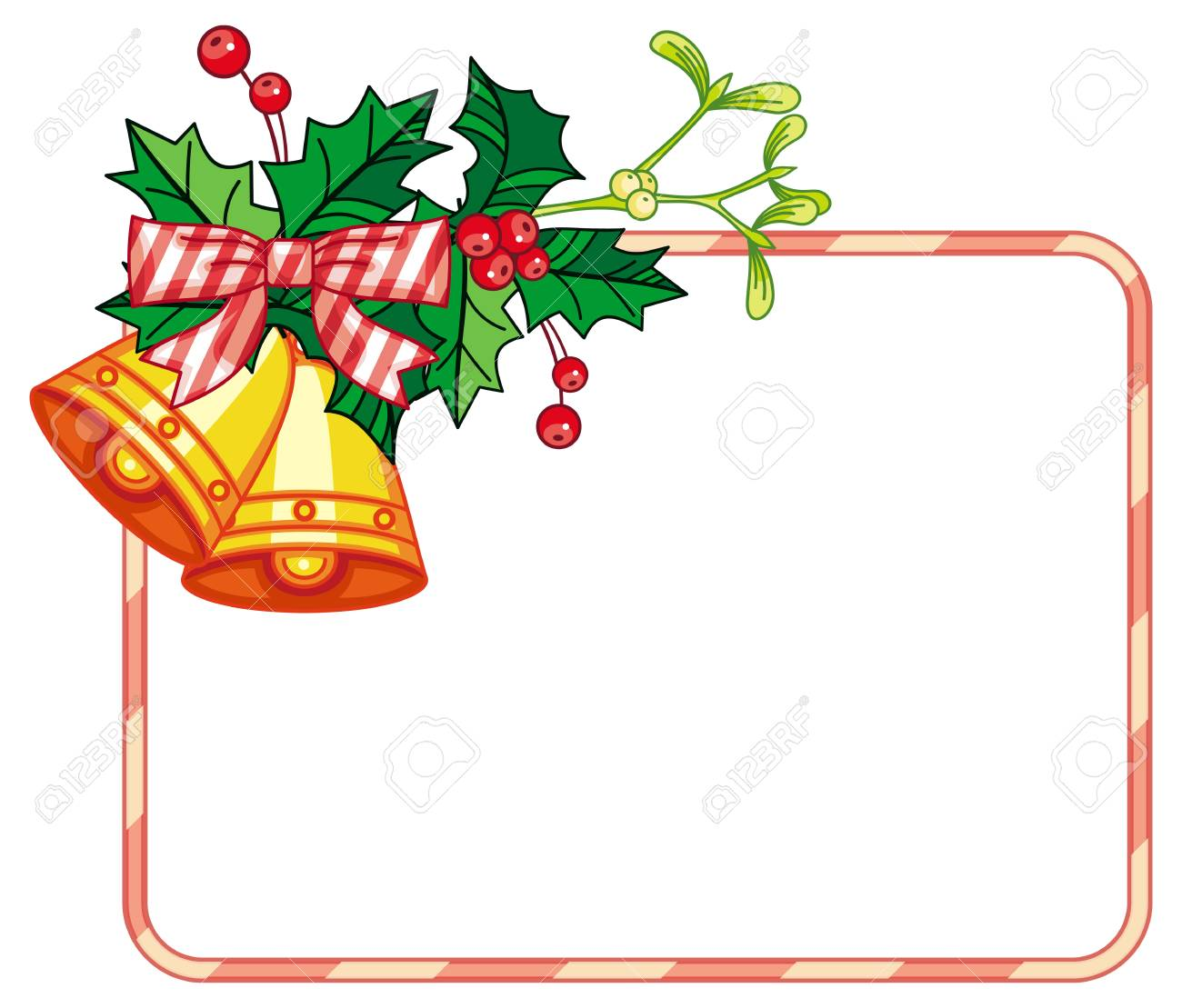 horizontal frame with holly berry and jingle bells copy space rh 123rf com