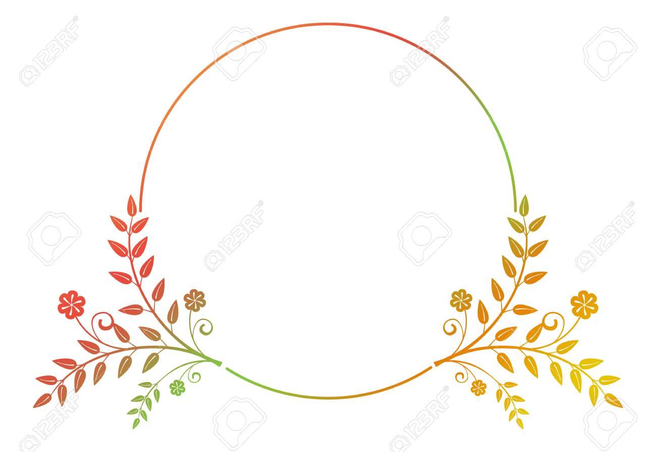 Schone Runde Blumenfeld Mit Verlaufsfullung Farbe Silhouette Rahmen