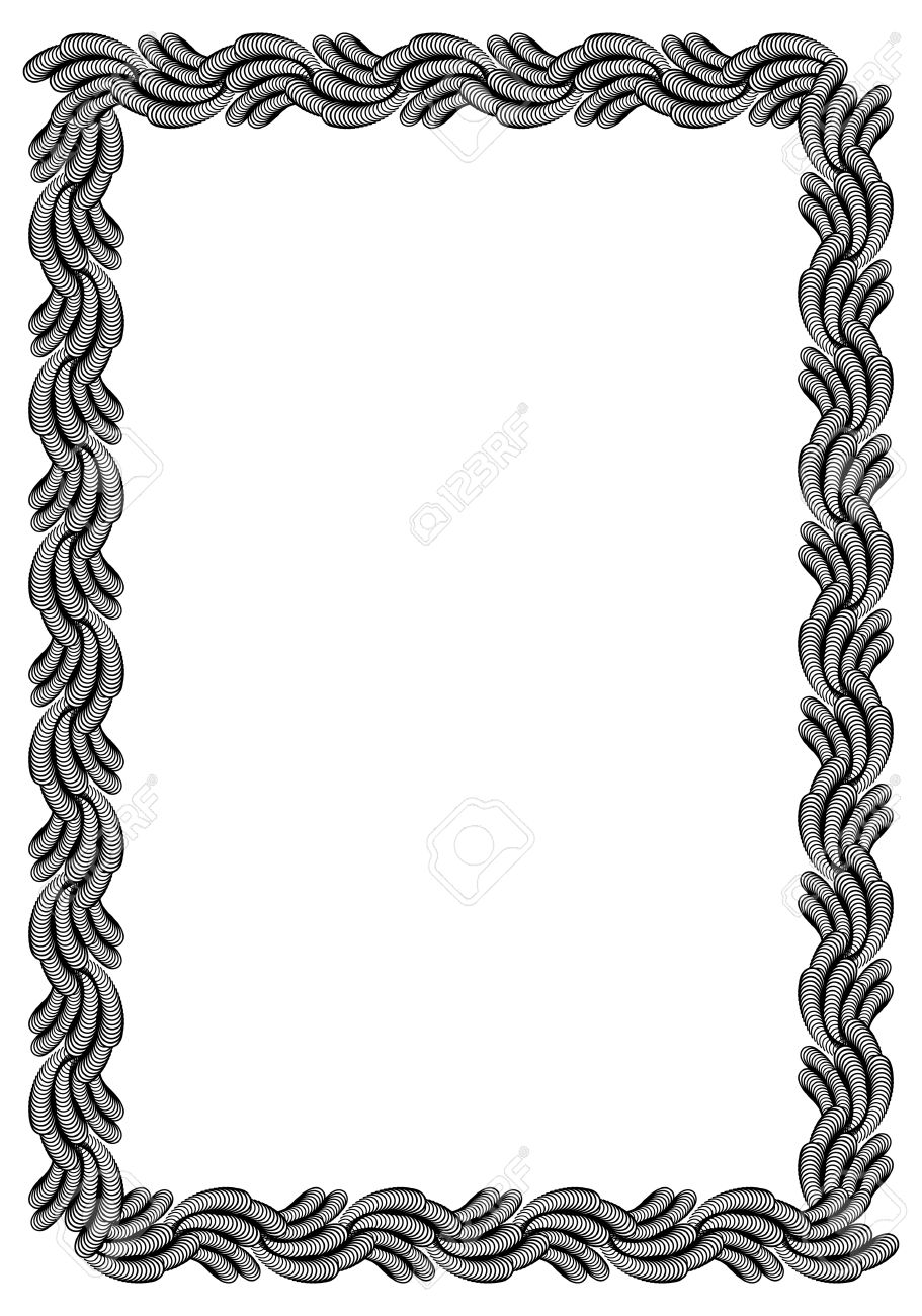 black and white abstract vertical frame guilloche border for rh 123rf com certificate border vector download certificate border vector high resolution png