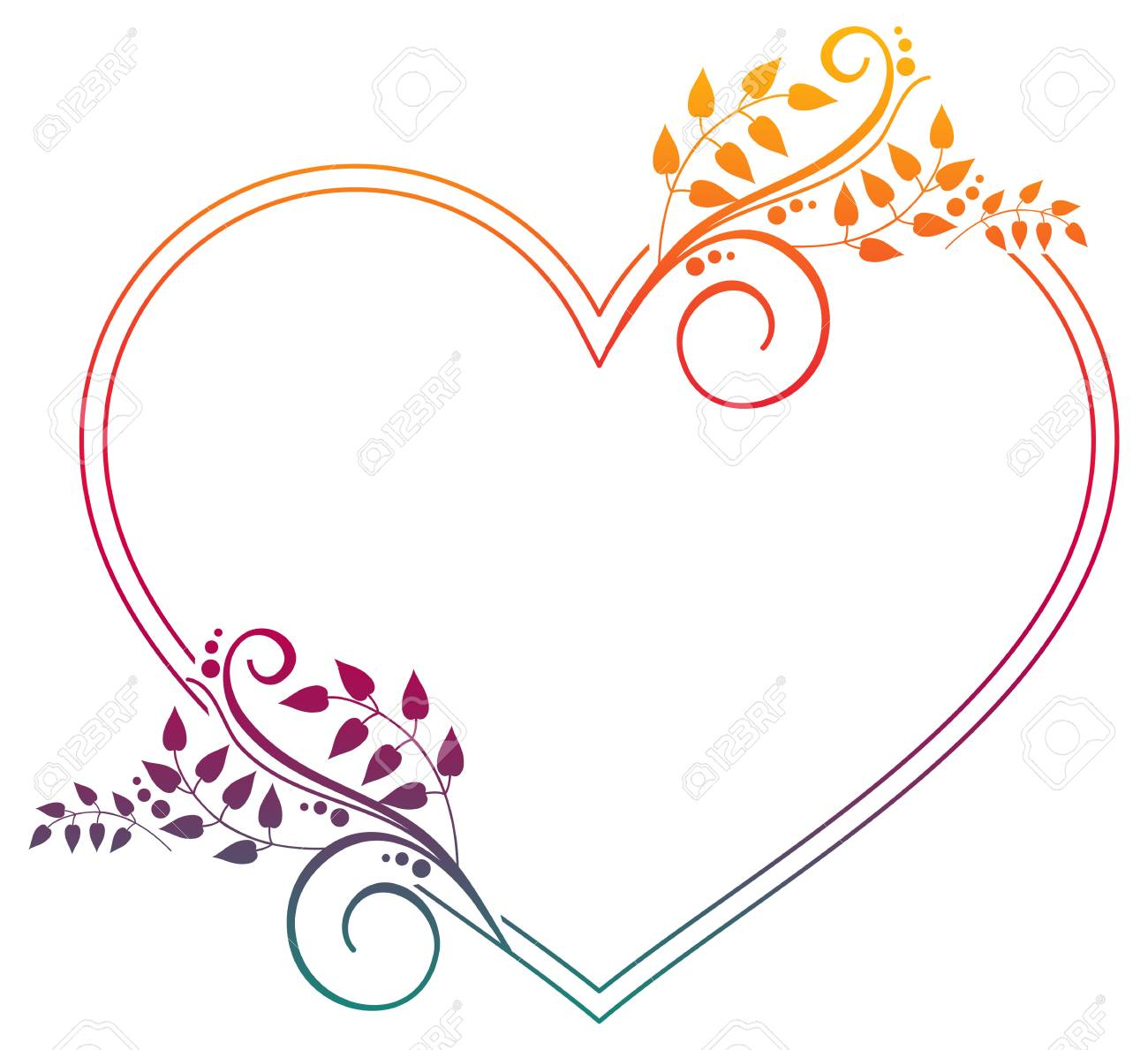 Heart Shaped Frame With Gradient Fill Raster Clip Art Stock Photo Picture And Royalty Free Image Image 71507272