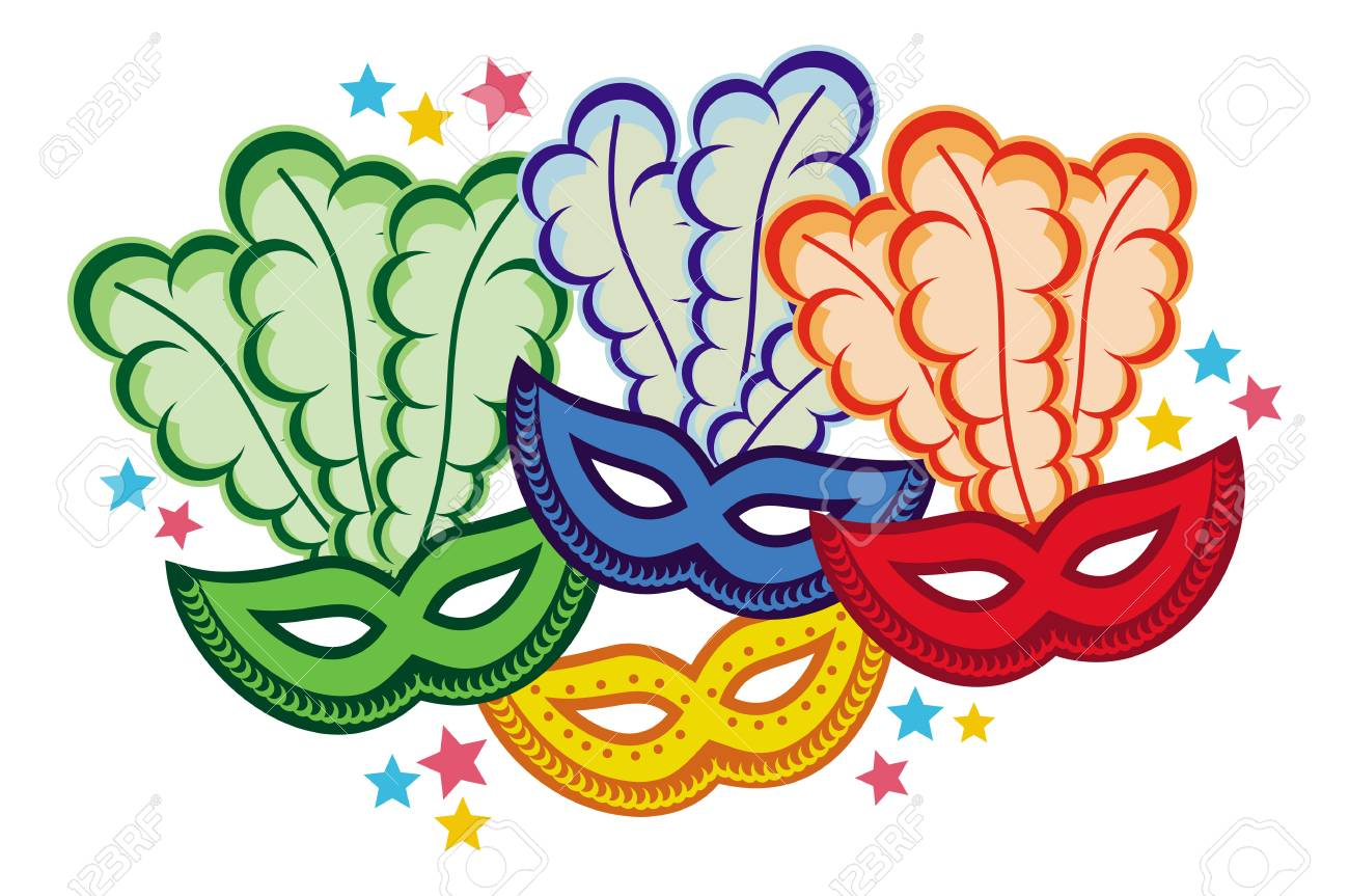 Color Carnival Masks Copy Space Raster Clip Art Stock Photo Picture And Royalty Free Image Image 71907871