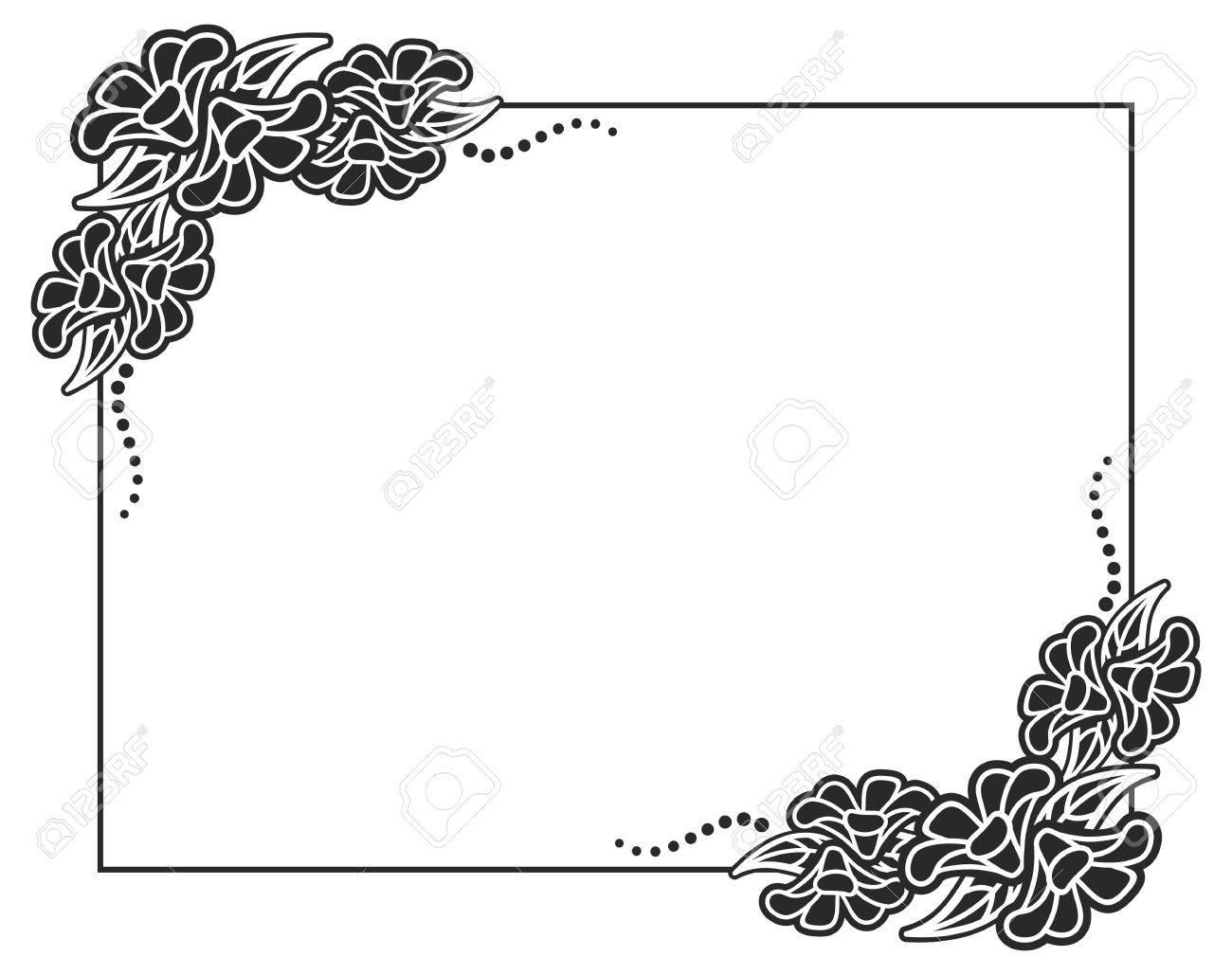 Eleganter Schwarz-weißer Rahmen. Gestaltungselement Für Anzeigen ...