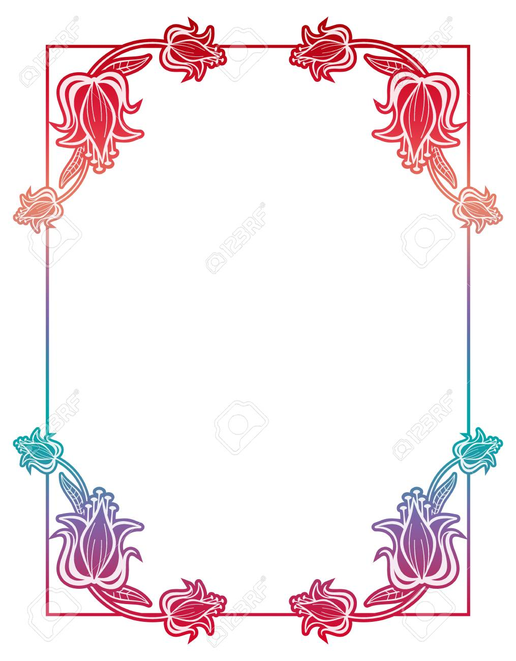 Bella Cornice Sfumata Cornice Colorata Per Pubblicità Matrimonio E Altri Inviti O Biglietti Di Auguri Raster