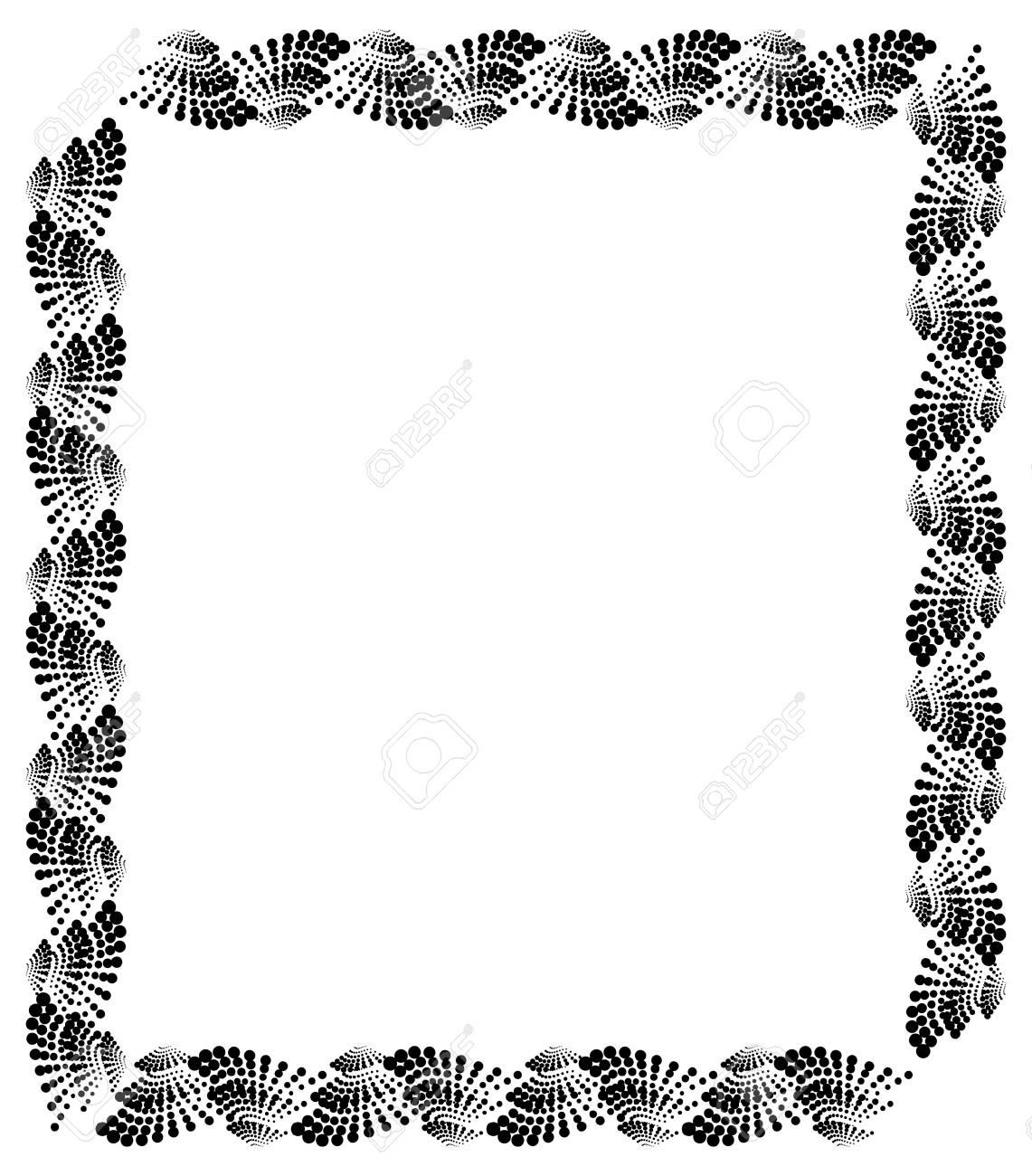 Abstrakter Vertikaler Schwarzweiss-Rahmen. Guilloche Grenze Für ...