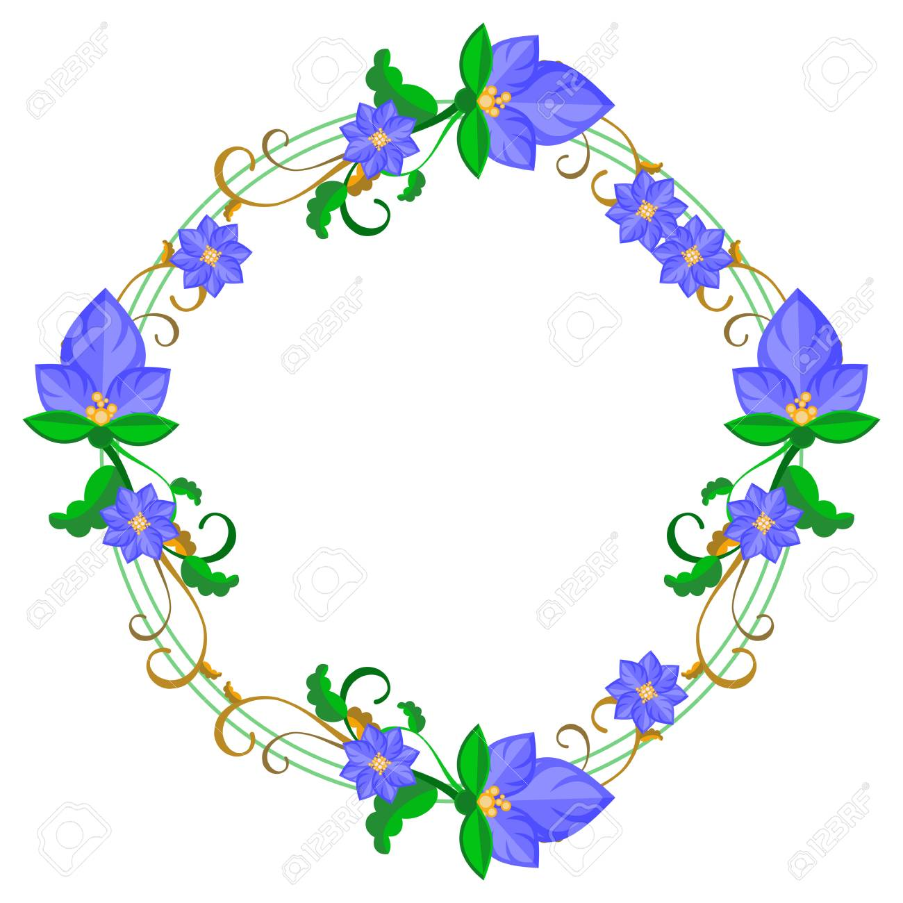 Round decorative frame with abstract blue flowers vector clip round decorative frame with abstract blue flowers vector clip art stock vector 80955373 izmirmasajfo