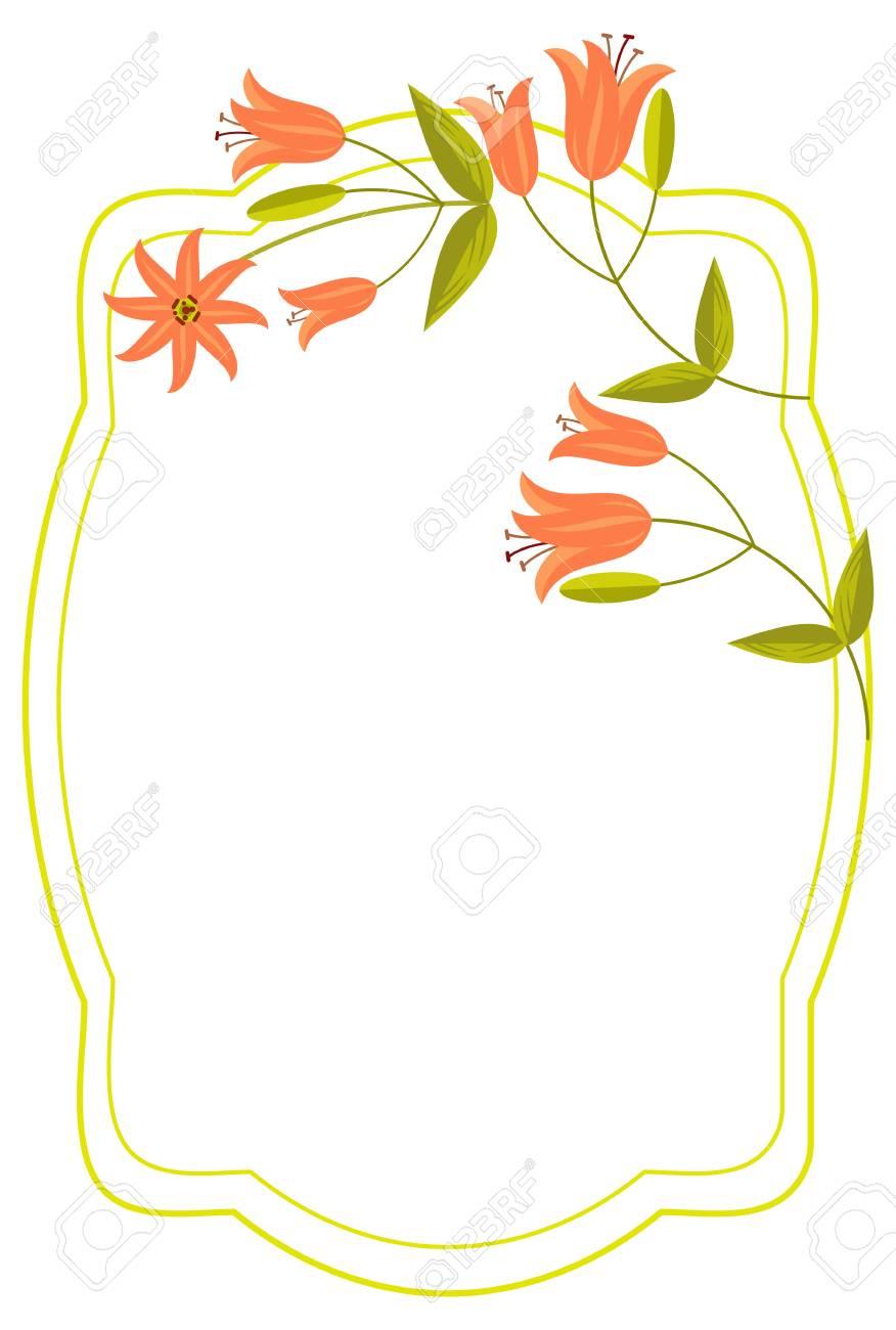 elegant wedding frame with orange lilies vector clip art royalty rh 123rf com free vectors wedding invitations free wedding vector art