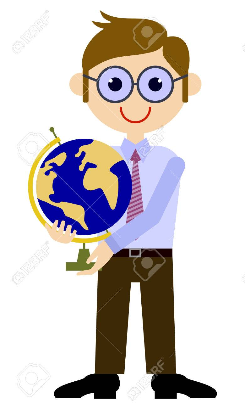 school teacher with globe vector clip art royalty free cliparts rh 123rf com  free clip art for elementary school teachers