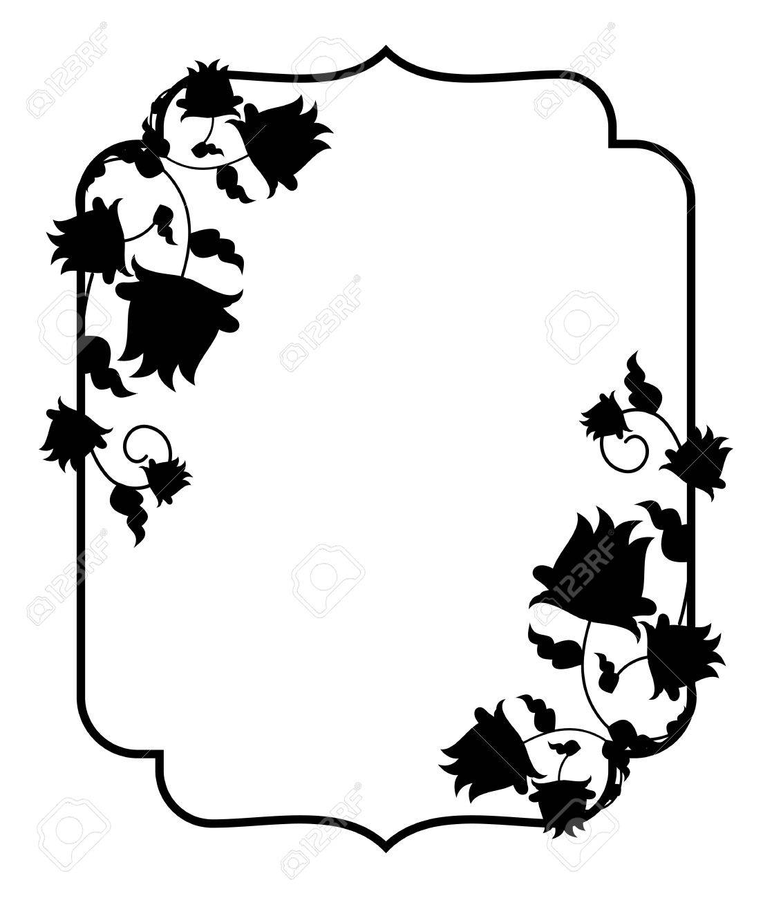 black and white silhouette floral frame vector clip art royalty rh 123rf com vector clipart free download vector clipart for vinyl cutter