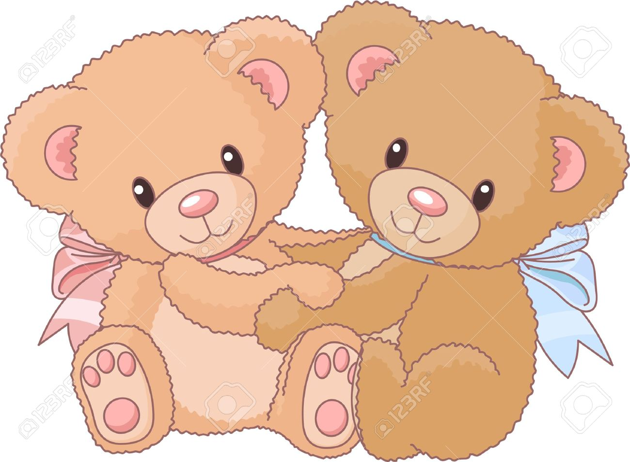 Two Cute Teddy Bears Hugging Royalty Free Cliparts, Vectors, And ...