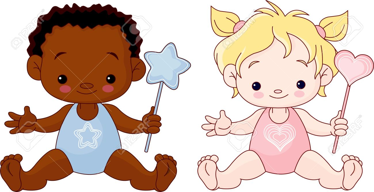 c4d8fb2d4710 Cute Babies Boy And Girl Royalty Free Cliparts