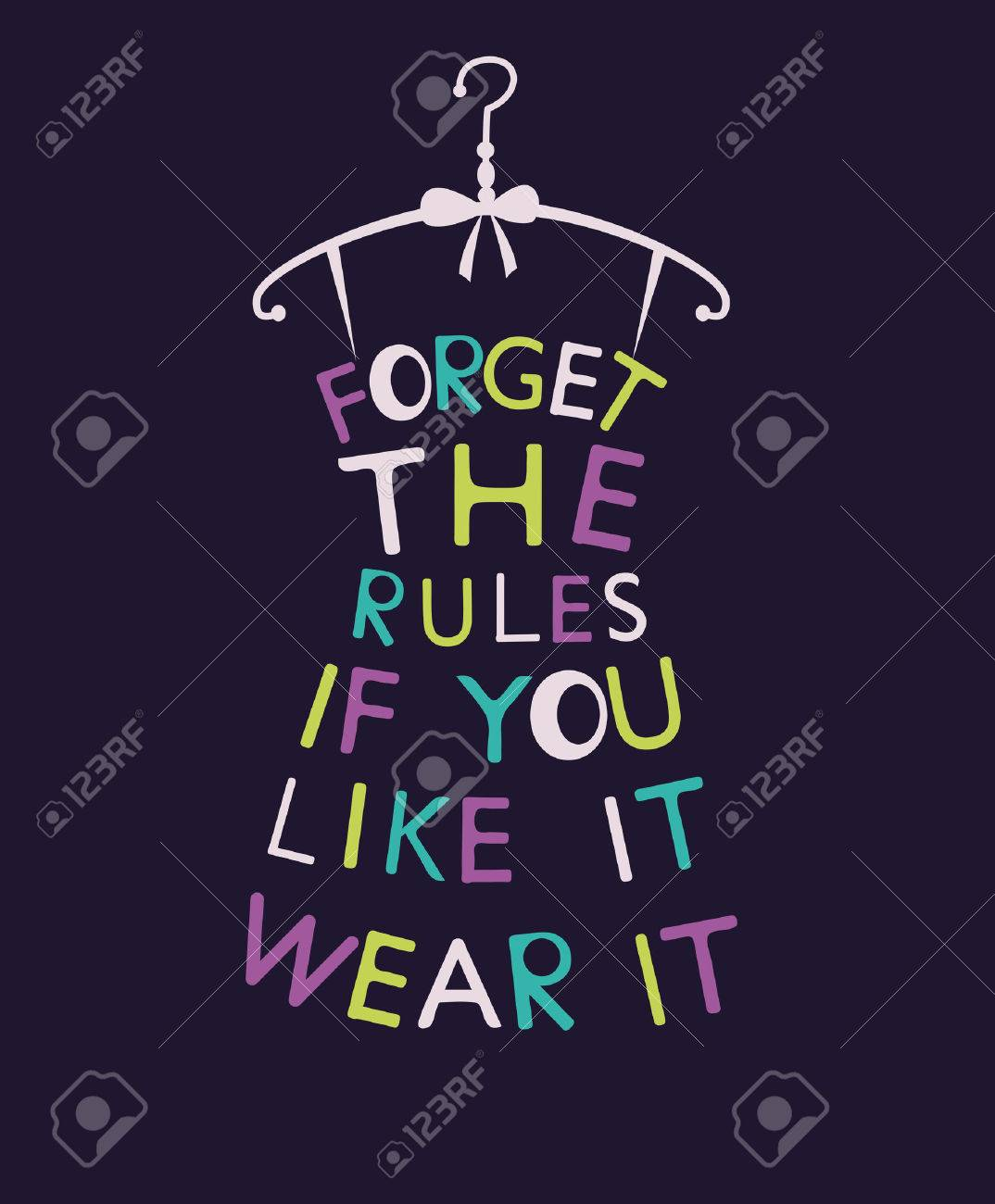 Stylized fashion woman dress from quote. Vector Stock Photo - 43881202