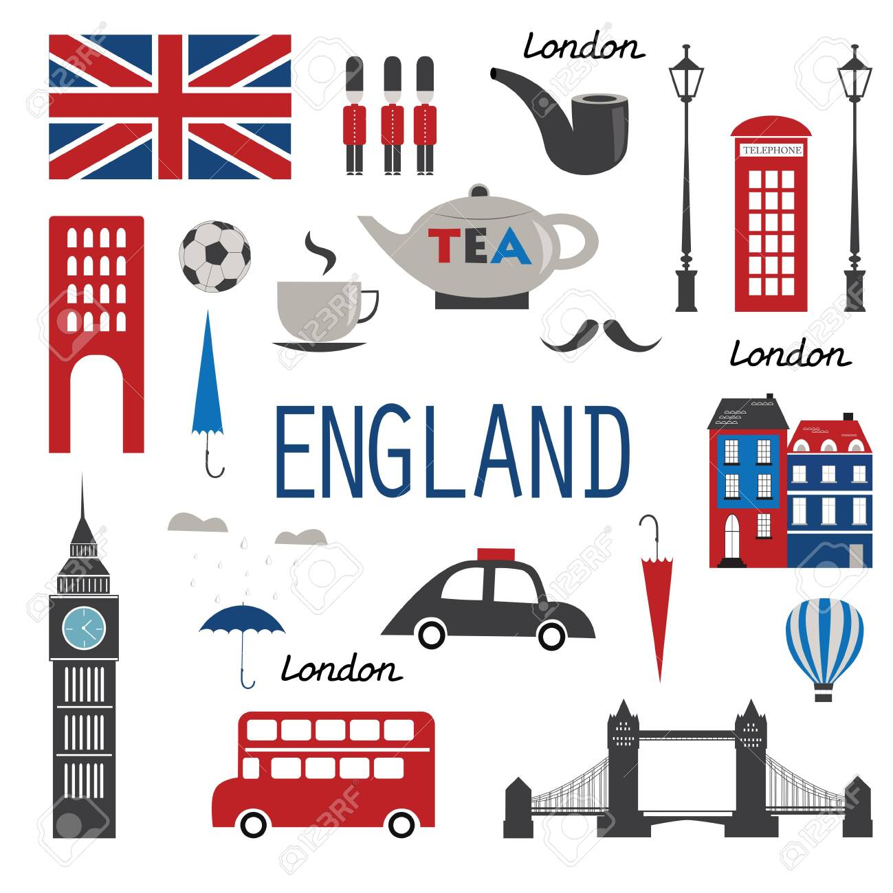 England Symbols And Icons. Vector Illustration Royalty Free Cliparts,  Vectors, And Stock Illustration. Image 137889874.