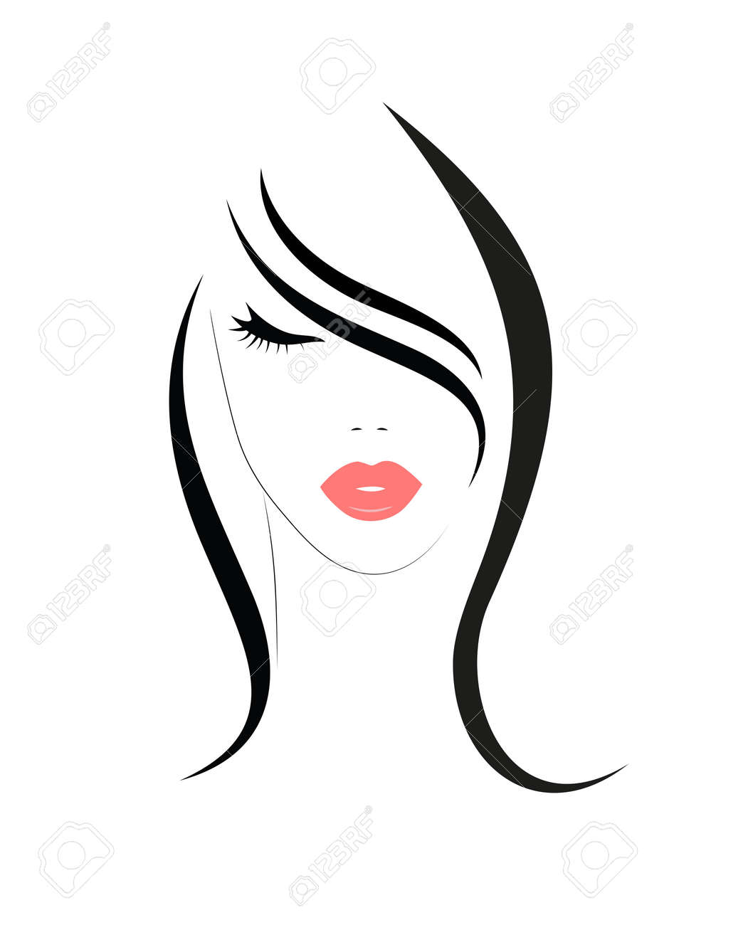 Logo of the woman with long hair - 166489443