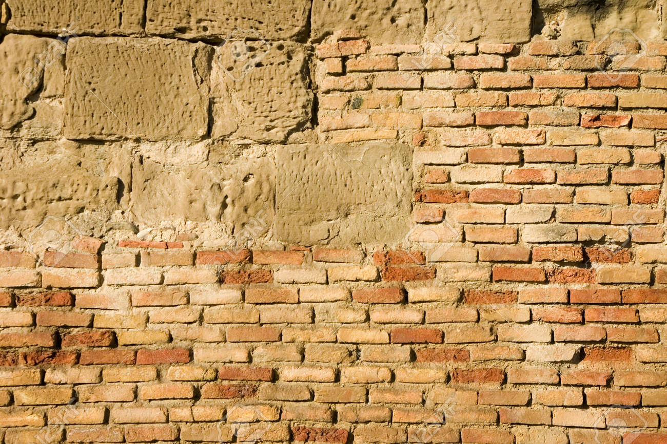 ancient brick and stone wall rough texture stock photo picture ancient brick and stone wall rough texture stock photo 960108